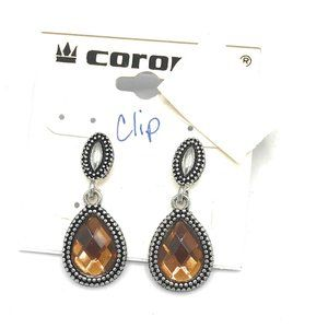 Coronet Clip Amber Earrings (Case 7) 691